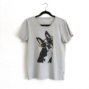 J. Crew Factory Tops - J Crew Collector Graphic Tee French Bulldog Size M